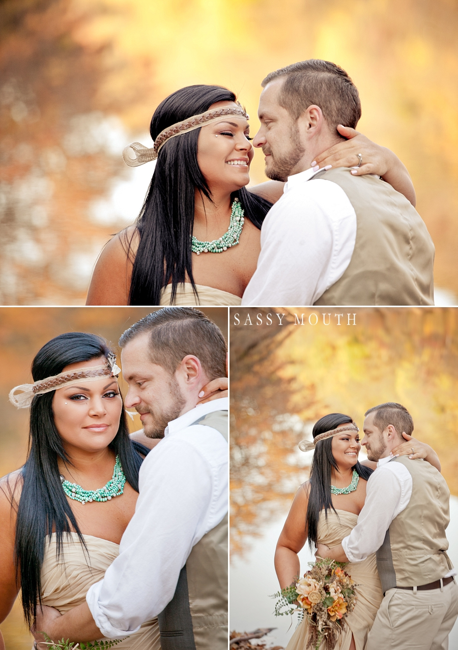 A Fall Wedding Fairytale Pocahontas Princess Inspired Photo Shoot