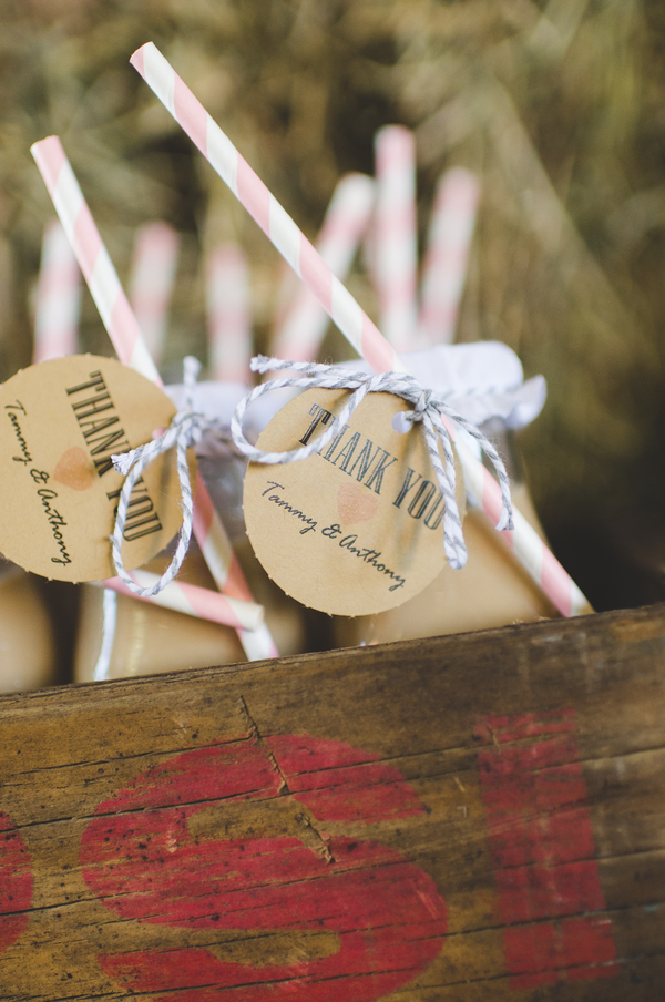 Thank You Drink Tags | photo by Jessica Oh Photography