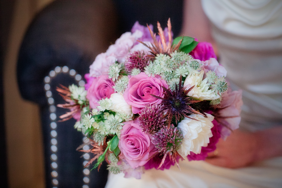 Midwinter Night's Dream Wedding Bouquet | Styled Shoot | Katie Rose LLC | Florals by Eight Tree Street | Photo by Mollie Tobias Photography #purple #winterwedding