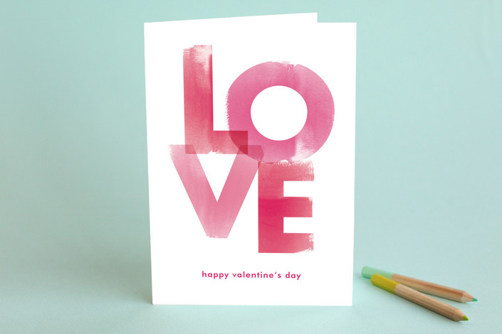 Watercolor Love Valentine's Day Greeting Card #valentinesdaycards #lovecards #watercolor #valentinesday