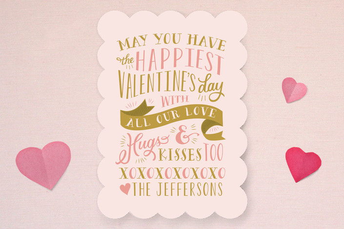 Hugs and Kisses Valentine's Day Card #valentinesdaycards #lovecards #valentinesday