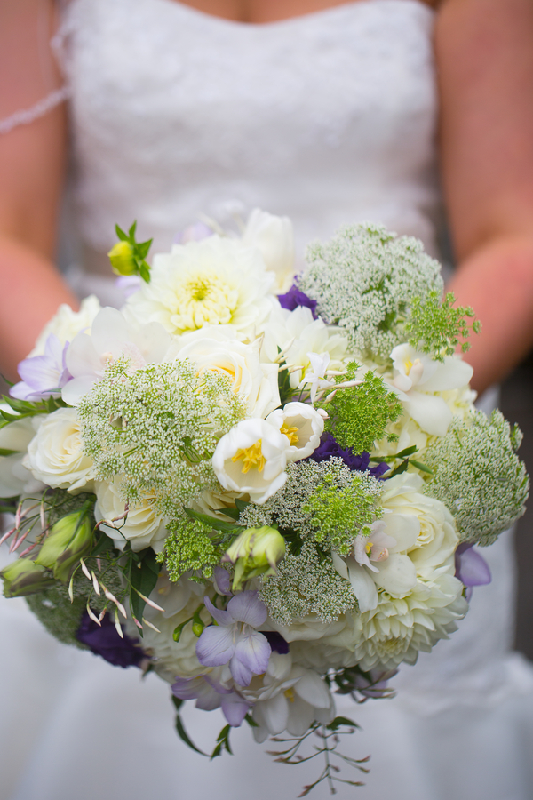Bridal bouquet from a purple beach wedding | florals by Alena's Designs | photo by Portrait Design by Shanti