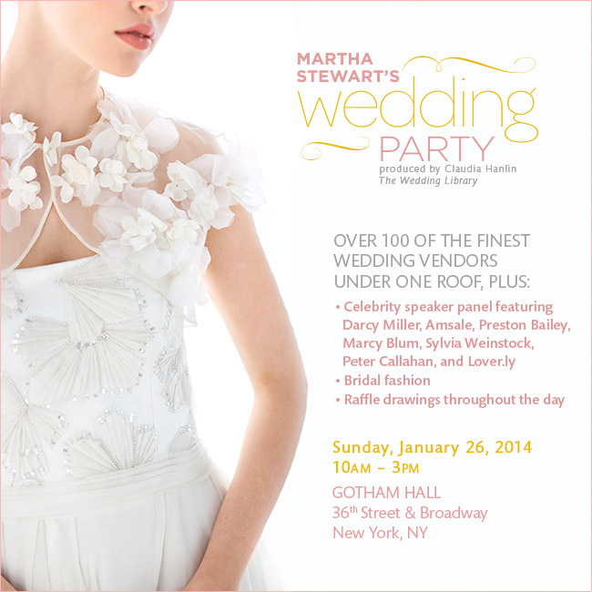 Win Tickets to Martha Stewart's Wedding Party NYC #giveaway #weddingcontest #marthastewart #nycbridalshow