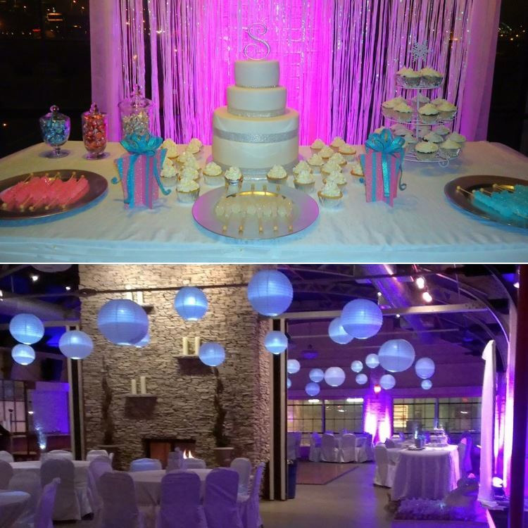 Diy uplighting for weddings add color and ambience with lights diy wedding uplighting purple lightsg solutioingenieria Choice Image
