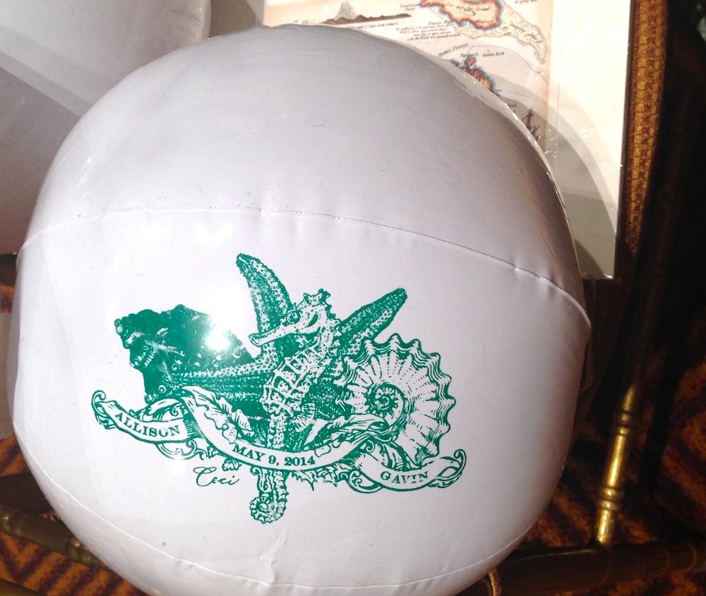 personalized beach balls wedding
