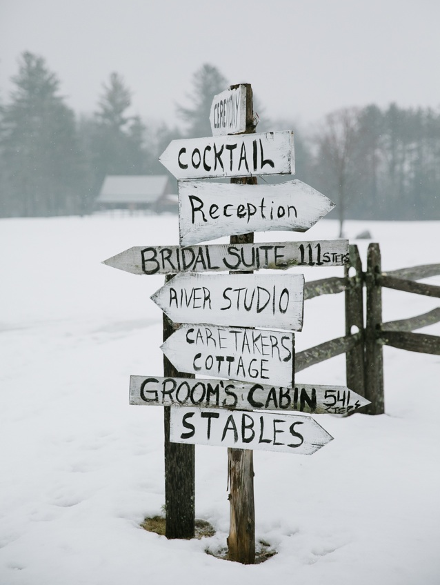 Love this wooden sign at Riverside Farm in Pittsfield, Vermont - photo courtesy of Jasmine Lee Photography