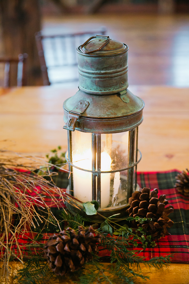 table lantern at Riverside Farm in Vermont for weddings - photo by Jasmine Lee Photography