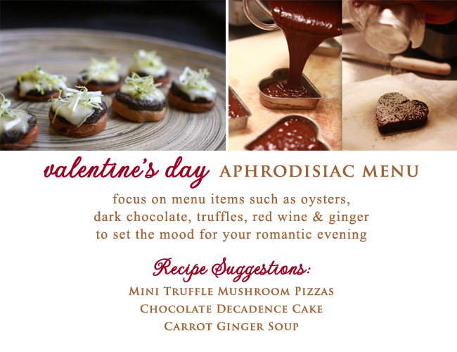 Valentine's Day Aphrodisiac Menu to set the mood for your romantic evening - from Great Performances in NYC