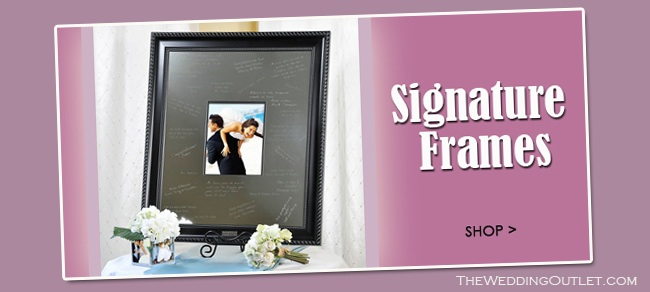 Wedding Signature Frames are great wedding guest book alternatives #weddingsignatureframes #guestbookalternatives #weddingoutlet #signatureframes