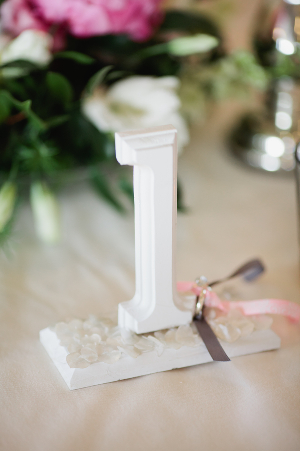 wooden number table sign | photo by Mary Dougherty Photography