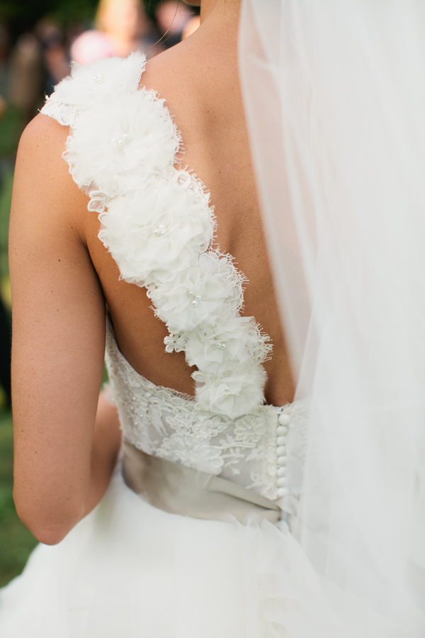 love the detailing on the back of this Lazarro wedding gown | photo by Mary Dougherty Photography