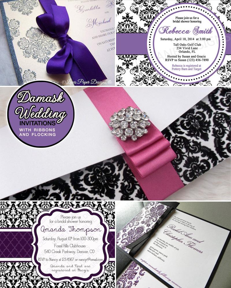 Damask Wedding Invitation was nice invitations ideas