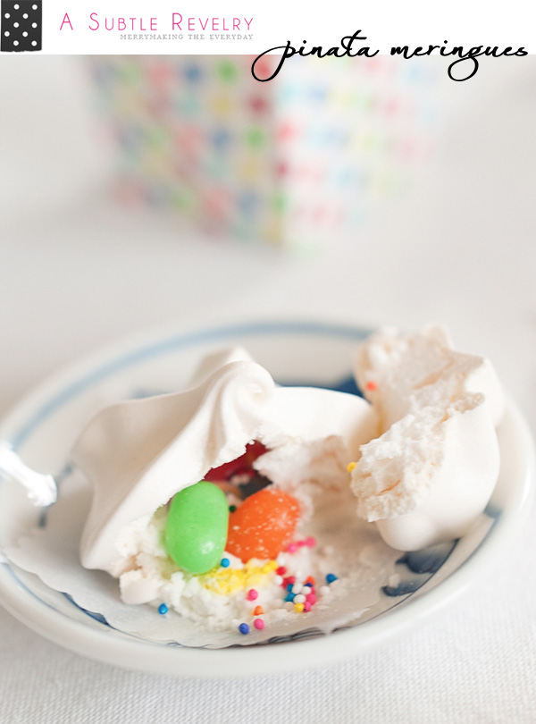 Unique Dessert Idea : pinata meringues from A Subtle Revelry