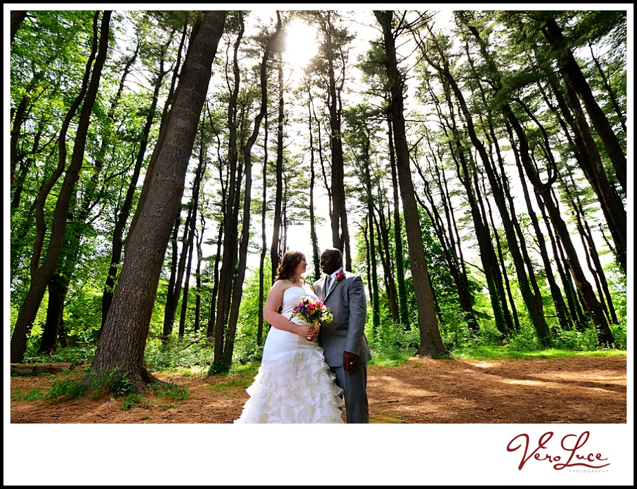 Beautiful photo of the bride and groom among the trees | by VeroLuce Photography www.verolucephotography.com