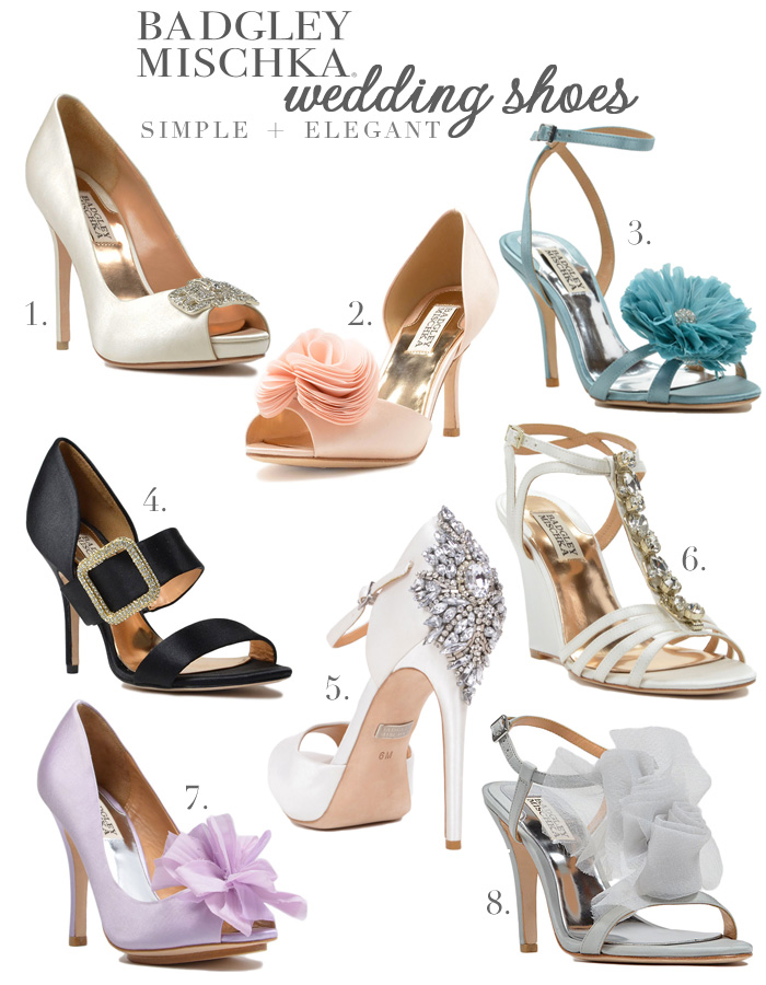 Badgley Mischka Bridal Shoes | a signature style that's simple & elegant #wedding #shoes