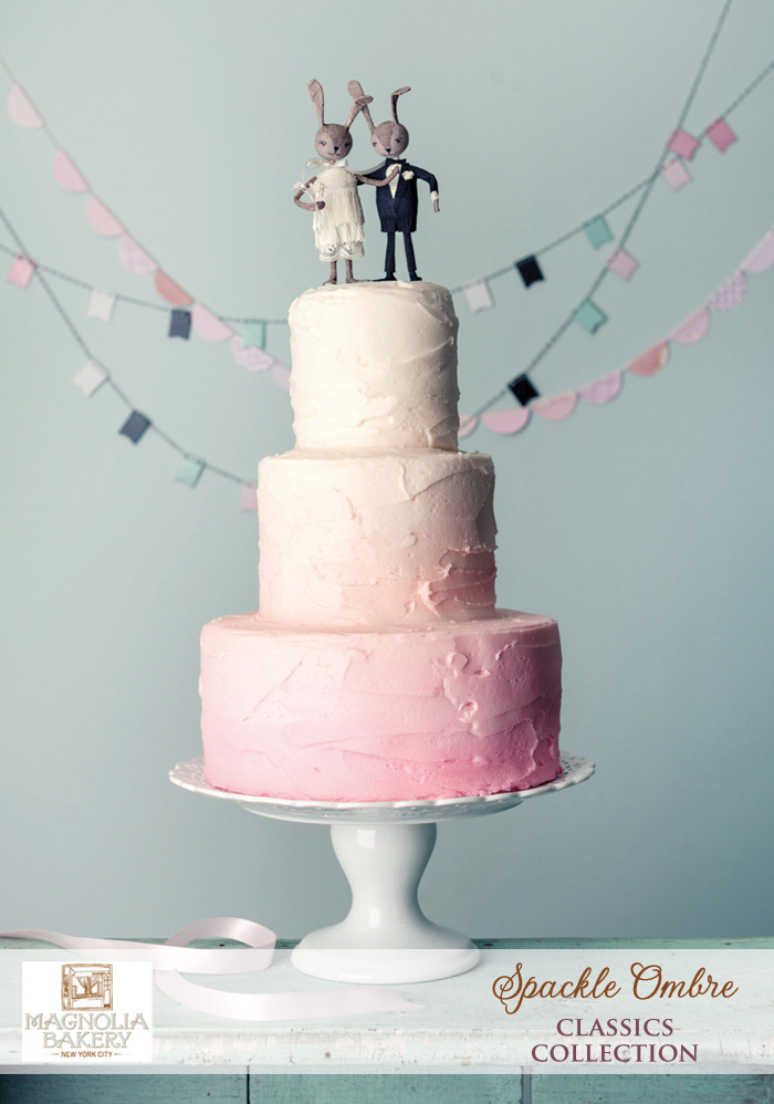 Magnolia Bakery Wedding Cakes : Spackle Ombre from the Classics Collection