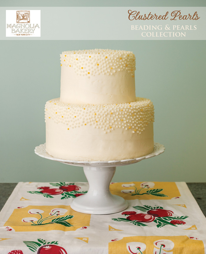 Magnolia Bakery Wedding Cakes : Clustered Pearls from the Beading and Pearls Collection