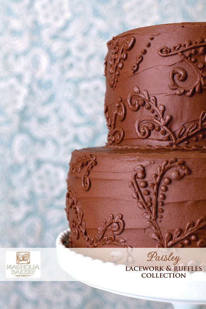 Magnolia Bakery Wedding Cakes : Paisley from the Lacework and Ruffles Collection
