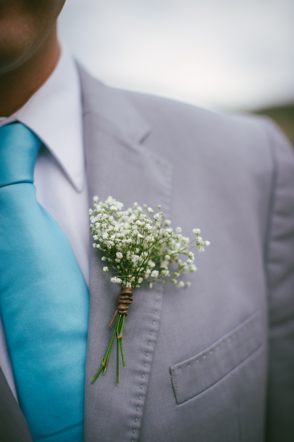 baby's breath boutonniere | by San Diego Floral Design LLC | photo by John DeFiora Photography