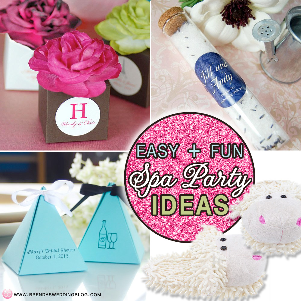 "Five Fun and Easy Spa Party Ideas for Wedding ""Girl"" Parties #bachelorette #parties #bridal #showers"