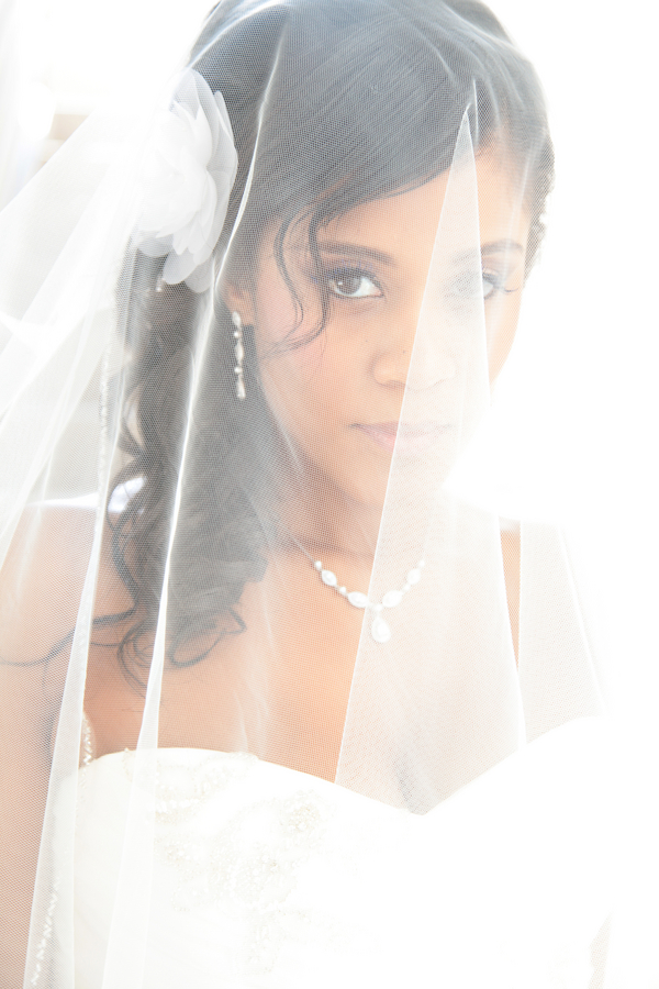 beautiful bride behind her veil | photo by Tab McCausland Photography