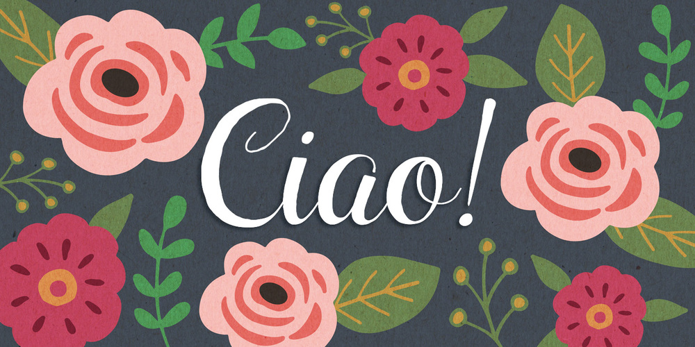 Ciao Bella Font : beautiful and unique - comes with typeface and ornament fonts. Everything seen here can be made with the Ciao Bella font family