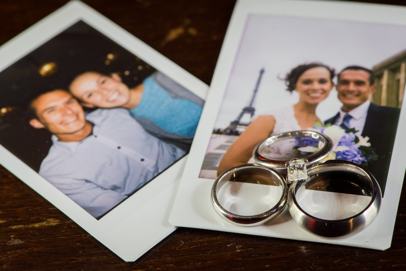 Polaroid souvenirs with wedding rings from the couples elopement to Paris, France | planned by Paris Weddings by Toni G. | photography by The Paris Photographer