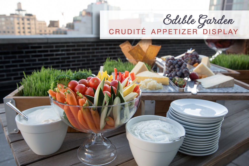 Edible Wedding Garden : crudité appetizer display | by Amanda Gentile