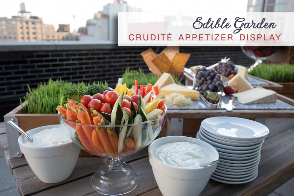 Edible Wedding Garden : crudité appetizer display | by Amanda Gentile