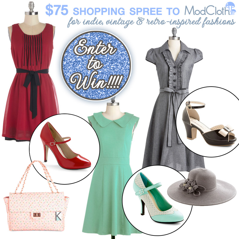 Enter to Win $75 to shop at ModCloth for indie, vintage and retro-inspired fashions #wedding #giveaway #contest