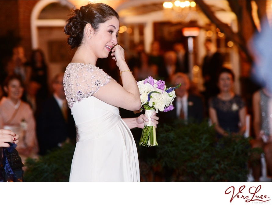 emotional bride at her New Orleans wedding | photo by VeroLuce Photography