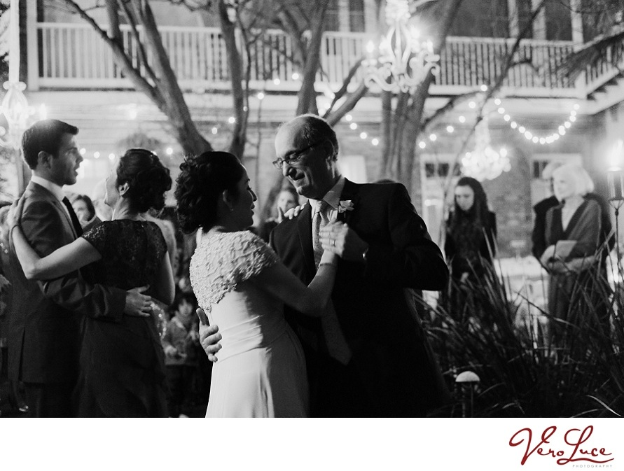 father and daughter dance at her New Orleans wedding | photo by VeroLuce Photography