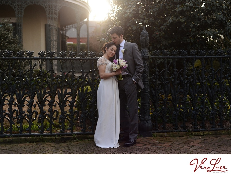 intimate moment captured of the bride and groom at their New Orleans wedding | photo by VeroLuce Photography