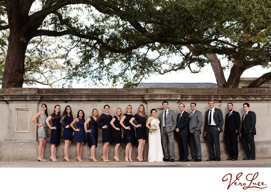 The wedding party at a New Orleans wedding | photo by VeroLuce Photography