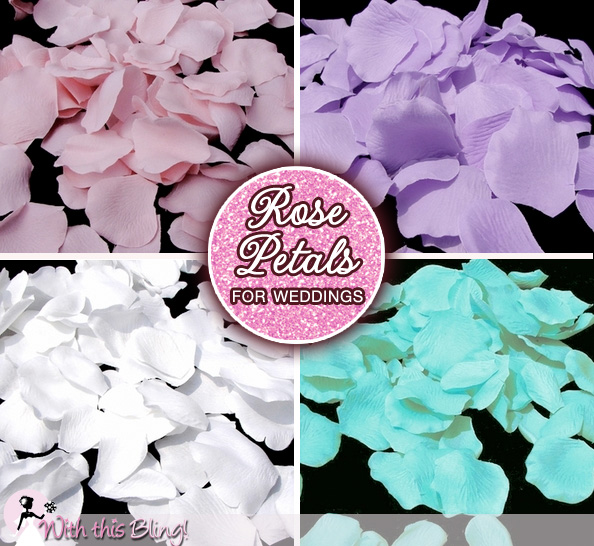 Rose Petals for Weddings : great way to add color in unexpected places | via www.brendasweddingblog.com