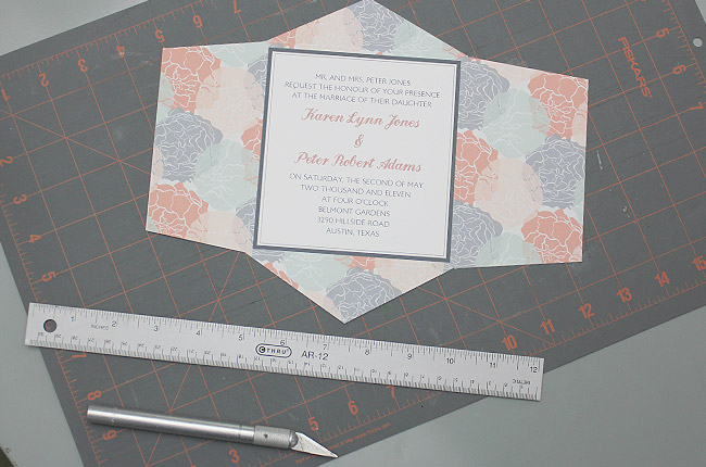 Step 3 con't: Invitation is all Trimmed