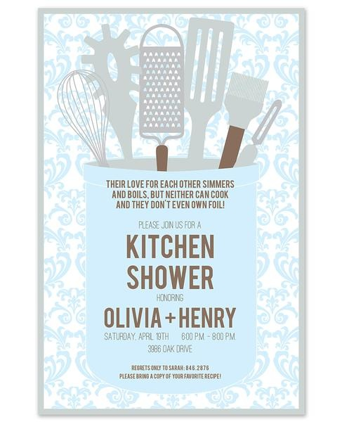 Kitchen themed bridal shower invitations and printables kitchen gleam invitation love the wording at the top filmwisefo