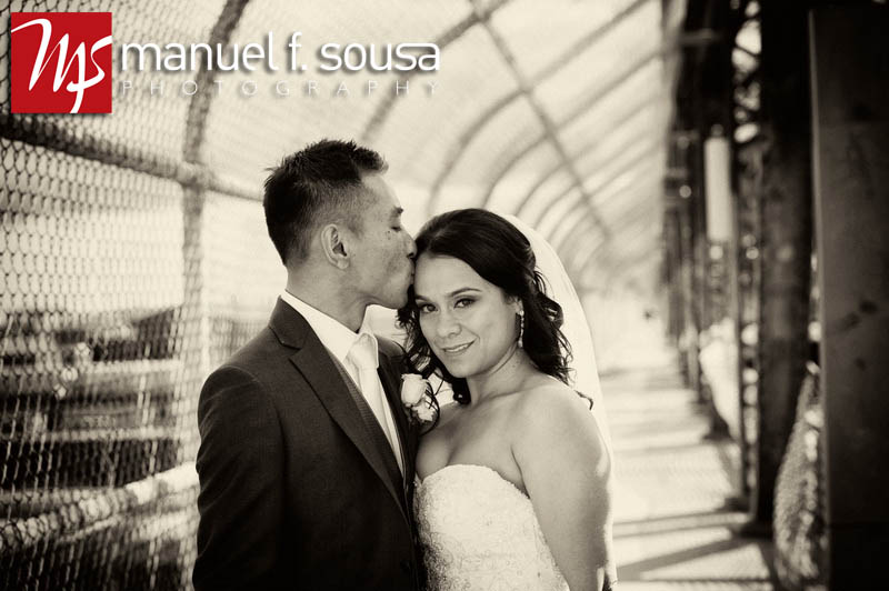 Beautiful black and white bride and groom portrait | photo by Manuel F. Sousa Photography | Wedding Coordination by Madeline's Weddings and Events