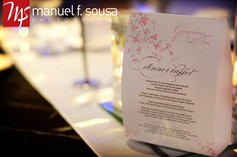 Pretty Pink Floral Menu Card | photo by Manuel F. Sousa Photography | Wedding Coordination by Madeline's Weddings and Events
