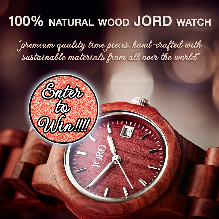 Win an elegant hand-crafted 100% wood watch from Jord on www.brendasweddingblog.com