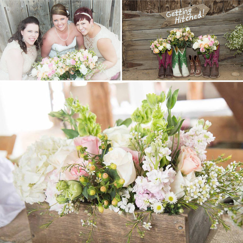 Rustic Wedding with florals from Fifty Flowers www.fiftyflowers.com | via the wedding guide on www.brendasweddingblog.com
