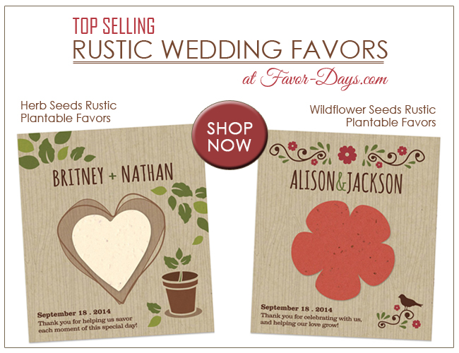 Plantable Wedding Favors : the perfect choice for rustic weddings {herbs and wildflowers} | as seen on www.brendaweddingblog.com