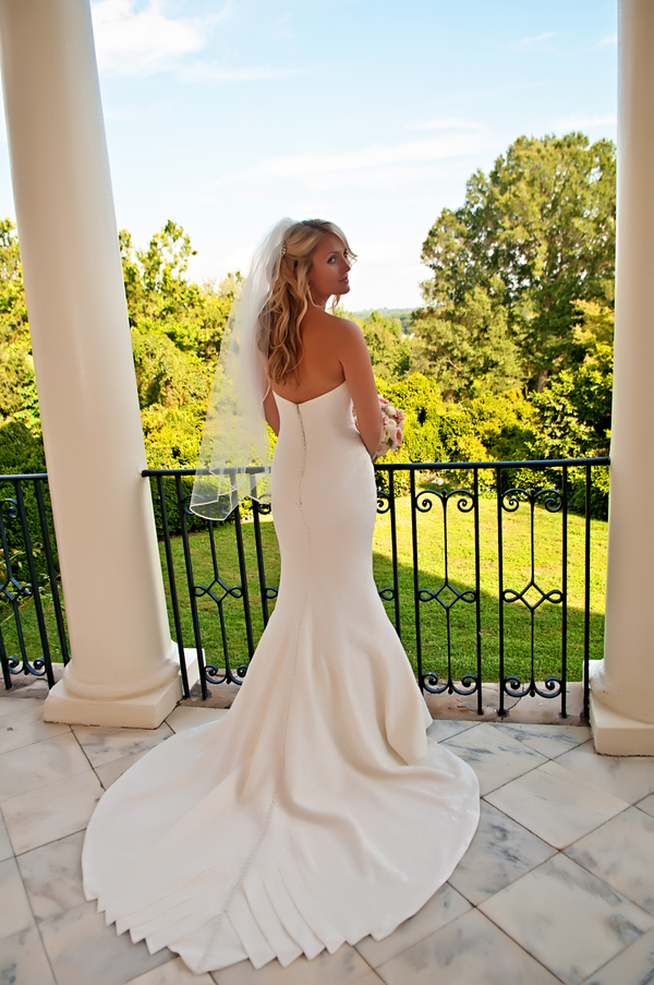Beautiful wedding dress train | photo by wwww.EverAfterVisuals.com as seen on www.brendasweddingblog.com