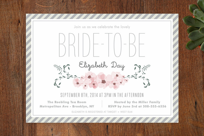 Lovely Day Bridal Shower Invitation