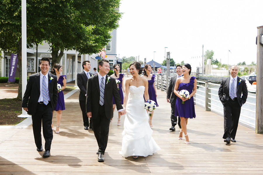 Fun and Casual shot of the Wedding Party with the Bride and Groom | photo by Nicole Chan Photography