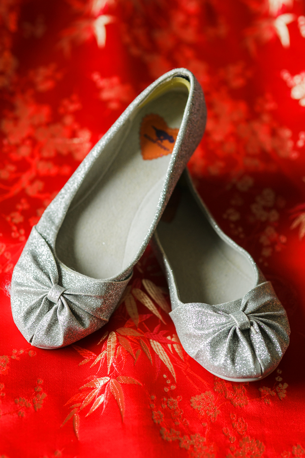 The brides shoes worn at a Traditional Chinese Wedding Tea Ceremony | photo by Nicole Chan Photography