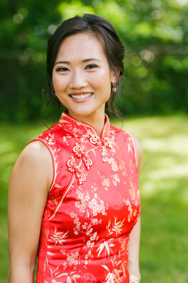 The happy bride at her Traditional Chinese Wedding Tea Ceremony | photo by Nicole Chan Photography