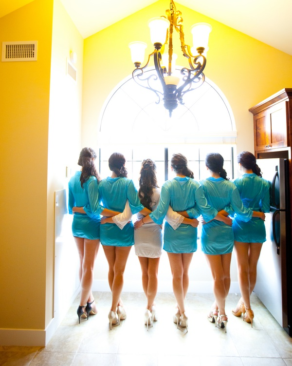 Bridesmaids in their Robes Getting Ready | photographer - Portrait Design by Shanti