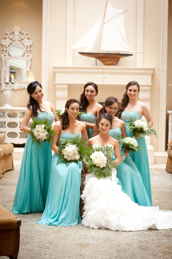 Bridesmaids in their Beautiful Blue Dresses | photographer - Portrait Design by Shanti