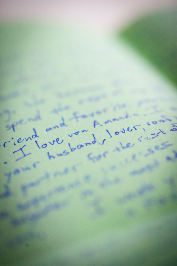 Handwritten Wedding Letter to the Bride from her Groom | photographer - Portrait Design by Shanti